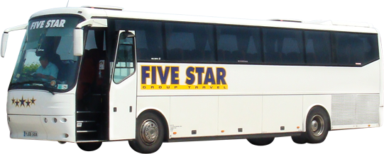 five star coach hire & group travel, liverpool, merseyside,